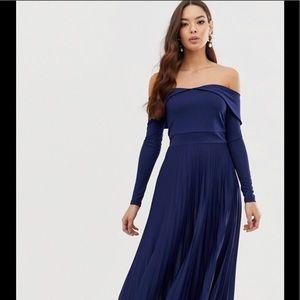 Asos size 14 navy dress